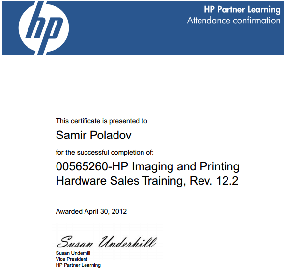 HP Imaging and printer supplies