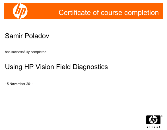 Using HP Vision Field Diagnostics