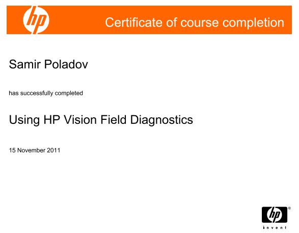 Using HP Vision Field Diagnostics